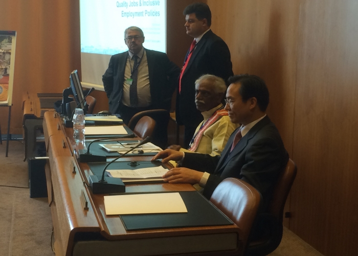 MoS Labour at the BRICS meeting of heads of delegations on the margins of ILC -2015