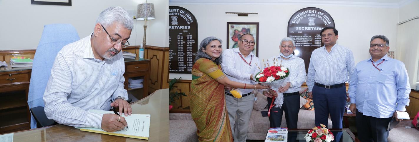 Shri Sunil Barthwal,IAS assumed the office of Secretary (L&E) on 23.09.2021